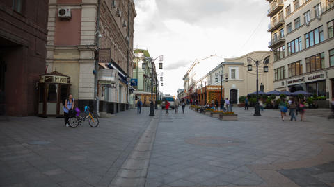 Kamergersky lane in Moscow walking hyperlapse Stock Video Footage