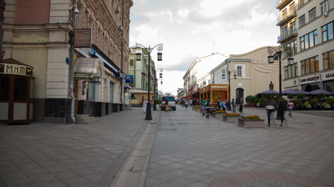 Kamergersky lane in Moscow walking hyperlapse Footage