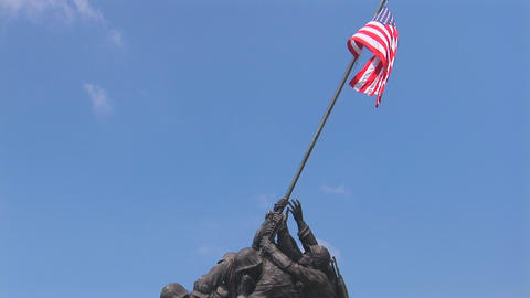 The Marine Corps War Memorial (also called the Iwo Footage
