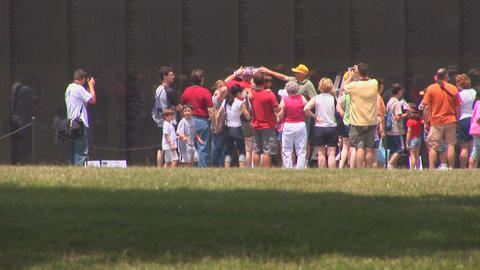 Vietnam Veterans Memorial Stock Video Footage