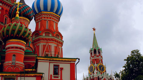 cloudy Moscow kremlin time lapse Footage