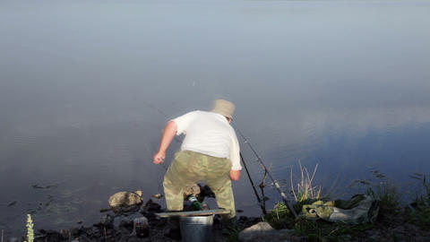 Fishing.Time lapse Stock Video Footage