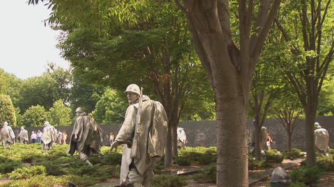 Korean War Veterans Memorial Stock Video Footage