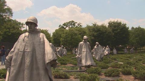 Korean War Veterans Memorial Footage