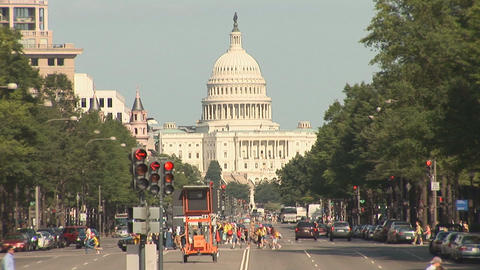 The US Capitol Building in Washington, DC Stock Video Footage