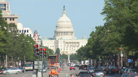 The US Capitol Building in Washington, DC Live Action