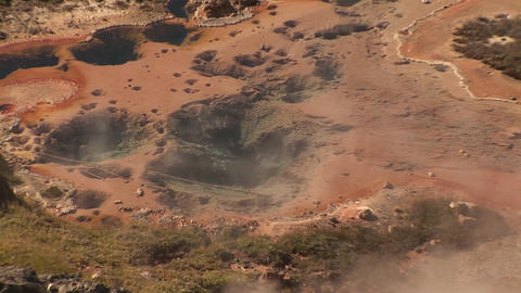 Boiling Pool, Black Sand Basin in Yellowstone National Park Stock Video Footage