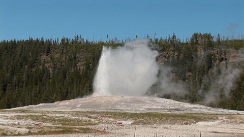 Old Faithful in Yellowstone National Park Footage