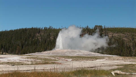 Old Faithful in Yellowstone National Park Stock Video Footage