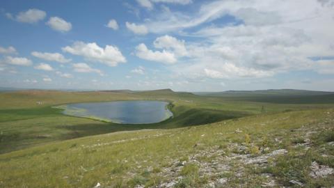 Khakassia. Kiprino lake view Footage