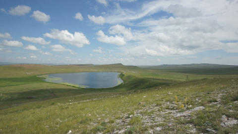 Khakassia. Kiprino lake view Stock Video Footage
