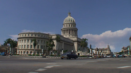 Havana Capitolio Nacional oldtimers Stock Video Footage