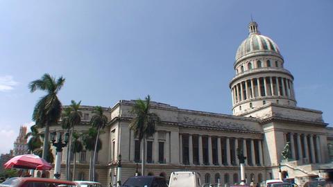 Havana Capitolio Nacional panshot Stock Video Footage