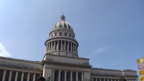 Havana Capitolio Nacional tiltshot Stock Video Footage