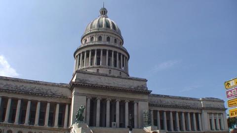Havana Capitolio Nacional tiltshot Footage