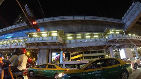Bangkok night traffic timelapse Footage