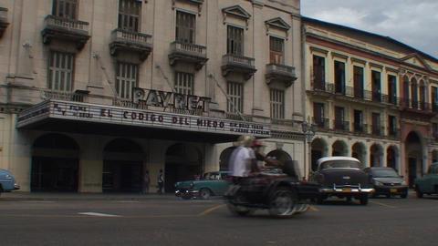 Havana Cinema Payret oldtimers Stock Video Footage