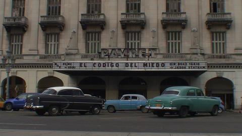 Havana Cinema Payret oldtimers Footage