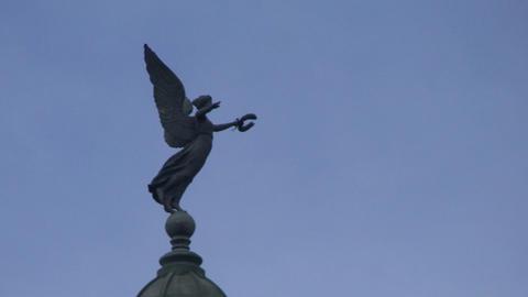 Grand theater of Havana, angel on top Stock Video Footage
