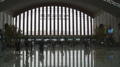 Harbin West Railway Station (inside view) Footage