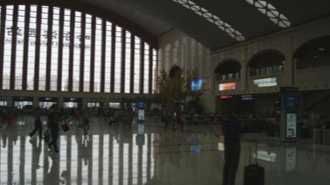 Harbin West Railway Station (inside view) Stock Video Footage