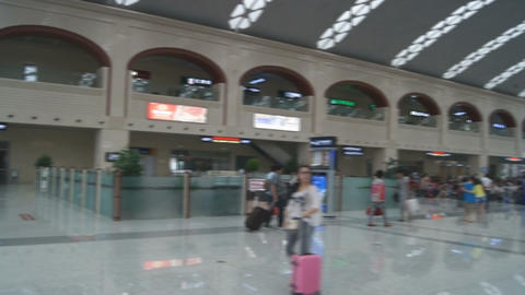 Harbin West Railway Station (inside view) Stock Video Footage
