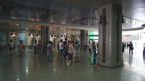 Harbin Zhongyang Dajie 09 Street Underpass Stock Video Footage