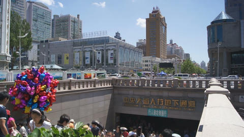 Harbin Zhongyang Dajie 11 Stock Video Footage