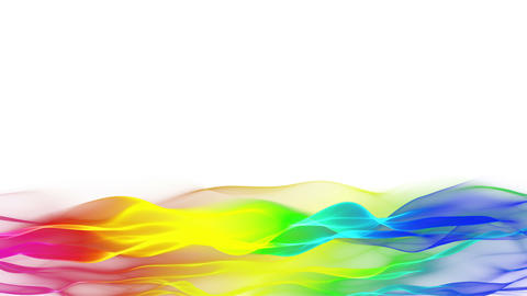 abstract flowing background, wave lower thirds Animation