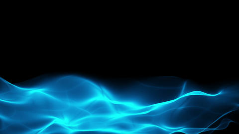 Abstract Blue Flowing Background, Lower Thirds stock footage