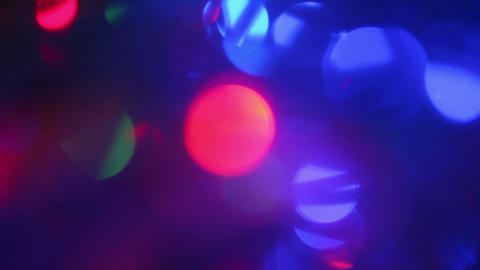 defocused lights abstract background, light effect Stock Video Footage