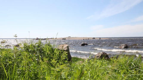 coast of the Baltic Sea Stock Video Footage