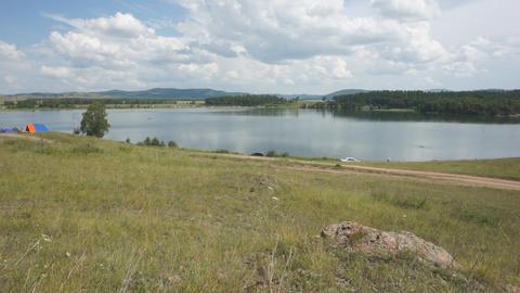 Khakassia Dog Lake Landscape 01 Stock Video Footage