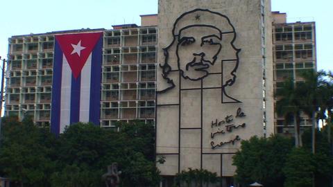 Plaza de la Revolución, Che Guevara Stock Video Footage