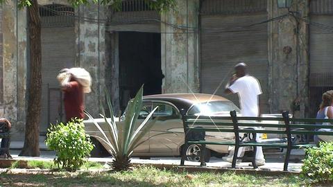 Plaza del Cristo, oldtimer, woman Footage