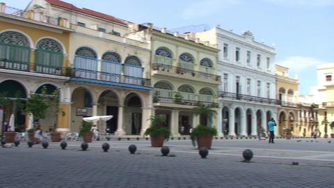 Plaza Vieja colonial buildings Stock Video Footage