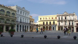 Plaza Vieja colonial buildings Footage