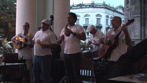 Salsa musicians 3 on terrrace part 4 of 11 Footage