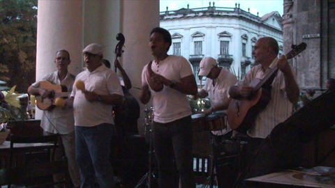 Salsa musicians 3 on terrrace part 6 of 11 Footage