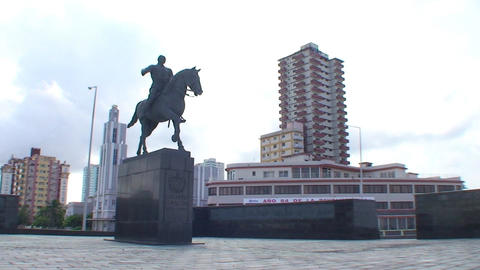 Statue of Calixto Garcia Footage