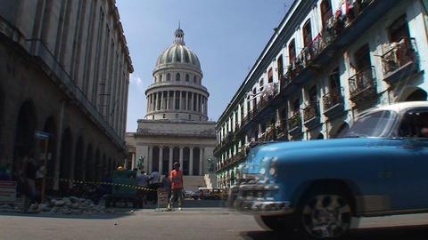 Streetview on the Capitolio Nacional Footage