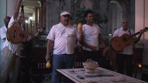 Salsa musicians 2 on terrrace part 9 of 9 Stock Video Footage
