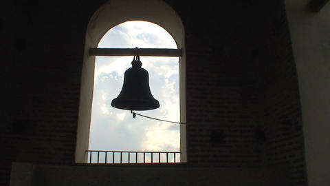 Bell in Catedral de la Candelaria Stock Video Footage