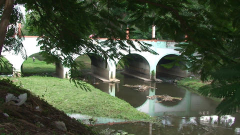 Bridge over the Rio Hatibonico Stock Video Footage