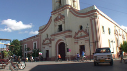 La Merced church tilt down Stock Video Footage