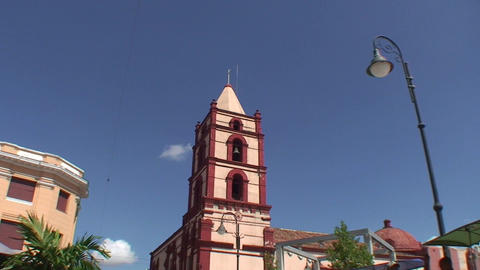 La Soledad church tilt down Stock Video Footage