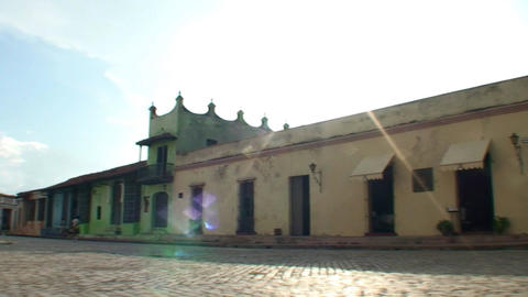 Plaza San Juan de Dios panshot Stock Video Footage