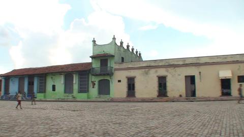 Plaza San Juan de Dios panshot Stock Video Footage