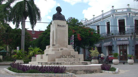 Statue of Maceo Stock Video Footage