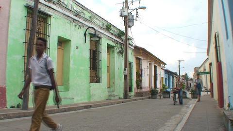 Streetview at plaza San Juan de Dios Stock Video Footage